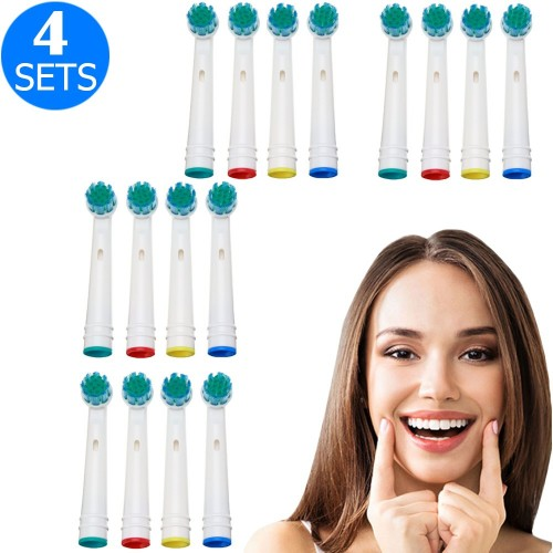 4 X 4PCS Toothbrush Replacement Heads Set Compatible with Oral-B EB28-P
