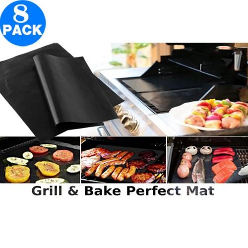 8x Non-stick BBQ Grill & Bake Perfect Mats