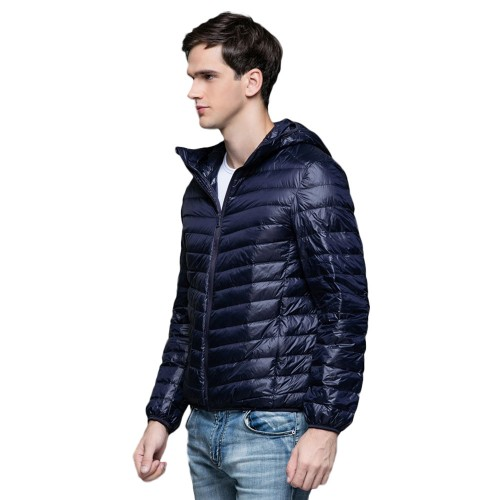 Mens Hooded Warm Jacket K-6007 Navy