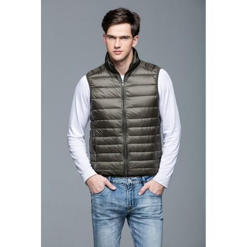 Mens Stand-up Collar Vest K-6005 Olivegreen