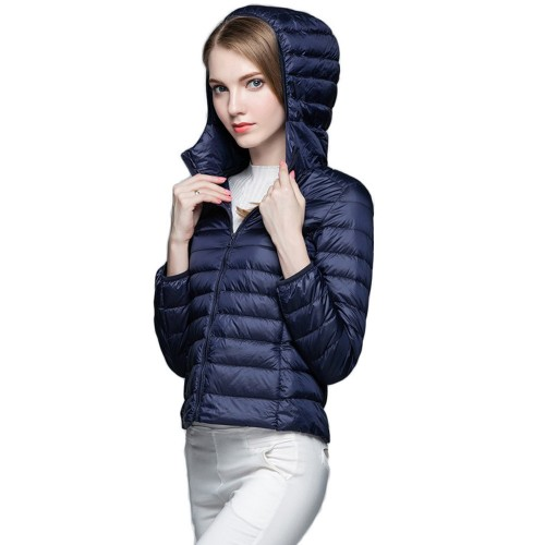 Womens Hooded Warm Jacket K-6003 Navy