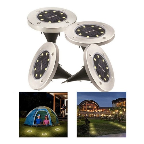 4Pack Super Bright 8-LED Solar Powered Waterproof Sensor Inground Lights