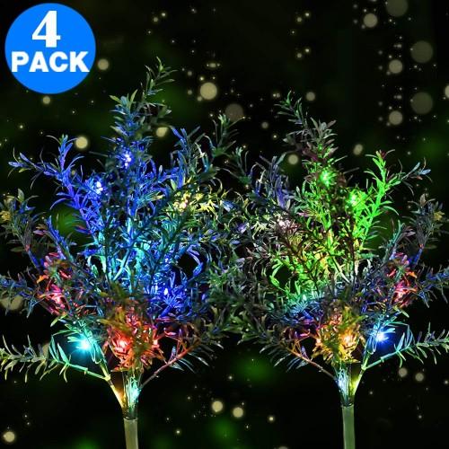 4 X Christmas Decorative Trees Solar Powered Lights for Garden