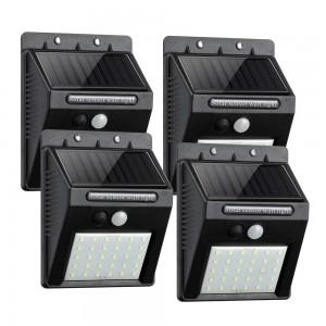 4 Pack 30 LEDS Motion Sensor Solar Lights