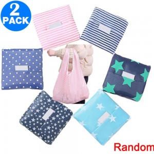 2 Pack Folding?Reusable?Shopping?Bags Random Colour