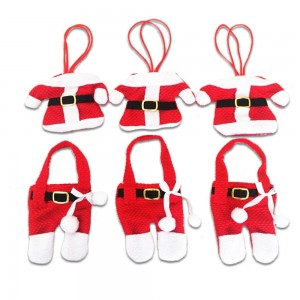 Set of 6 Christmas Knife Fork Holder - Santa Claus Jacket+Pants