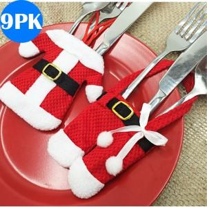 Set of 18 Christmas Knife Fork Holder - Santa Claus Jacket+Pants