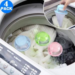 4X Washing Machine Floating Hair Filters Random Colour