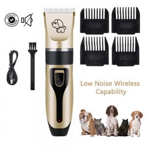 USB Cordless Electric Dog Clipper Set