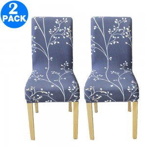 2 X Printed Stretch Dining Chair Slipcover Style 1