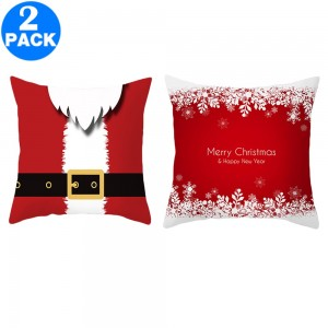 2Pack 45 X 45CM Christmas Decorative Square Pillow Cases Style 1 and Style 2