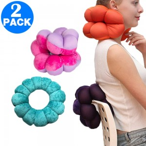 2 Pack Adjustable Multifunction Pillows for Neck and Lumbar Supports Blue and Rose Red