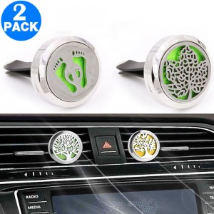 2 X Aromatherapy Essential Oil Car Vent Diffuser with One Felt Pad Set 5