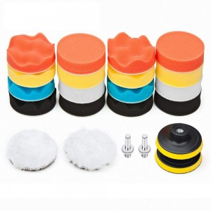 22Pcs Car Foam Drill Polishing Pad Kit