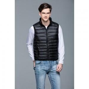 Mens Stand-up Collar Vest K-6005 Black