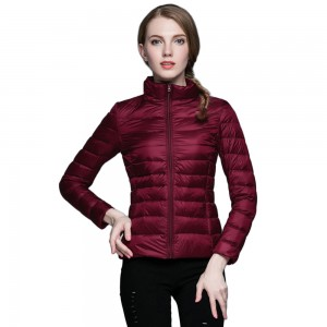 Womens Stand-up Collar Jacket K-6002 Winered
