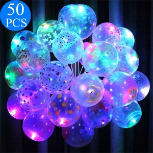 LED Luminous Transparent Balloons For Christmas Birthday Outdoor Decoration