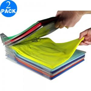 Twin Pack 34.5x29.5x6.5cm Closet Organizer and Shirt Folder
