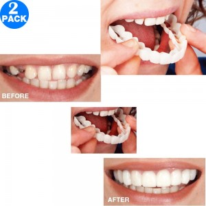 2PCS Cosmetic Snap On Instant Smile Comfort Teeth Sockets