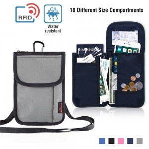 Multifunctional Waterproof RFID Blocking Travel Security Passport Holder