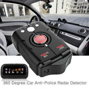 Speed V8 Laser Radar Detector 16 Band Auto 360 Degrees Voice Alert Warning Car Locator