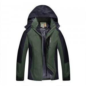 Outdoor Waterproof Winterproof Hooded Jacket for Men Green