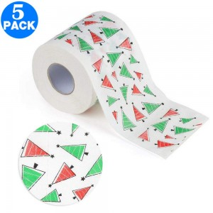 5 Pack Creative Style Christmas Toilet Paper B