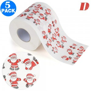 5 Pack Creative Style Christmas Toilet Paper D