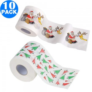 10 Pack Creative Style Christmas Toilet Paper A+B