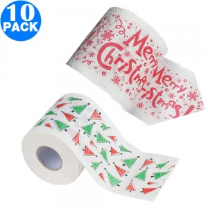 10 Pack Creative Style Christmas Toilet Paper B+C