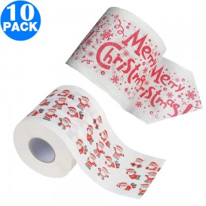 10 Pack Creative Style Christmas Toilet Paper C+D