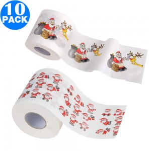 10 Pack Creative Style Christmas Toilet Paper A+D