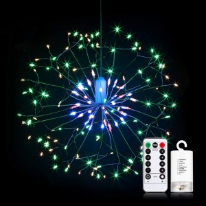 198 Bright Remote Control Explosion Star LED Fireworks Light Multicolor