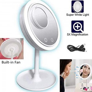 5 in 1 Touch Sensor LED Mirror Built in Fan