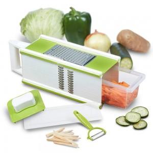 5 in 1 Vegetable Slicer 4 Sided Kitchen Grater Box