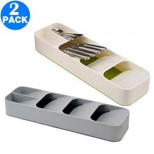 2 Pack Kitchen Drawer Cutlery Organizers