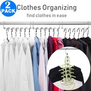 2 X Closet Saver 360 Swivel Hangers