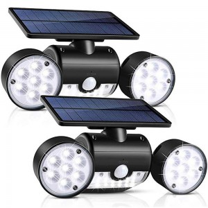 2 X 30 LED Dual Heads Motion Sensor Solar Powered Lights Wall Lights