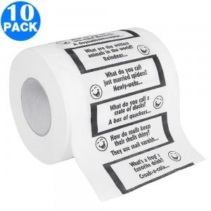 10 X Christmas Creative Joke Printed Toilet Paper Rolls
