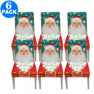 6 X Christmas Stretch Removable Washable Dining Chair Covers Seat Slipcovers Style 1