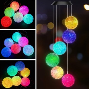 Solar Power Color Changing Wind Chimes Style 5