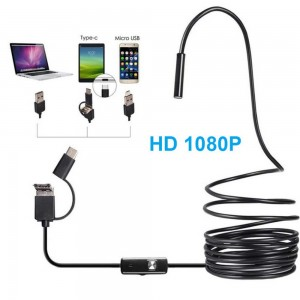 3 in 1 Mini Camera Flexible Tube Endoscope