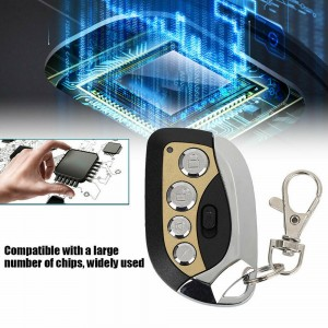 270MHz-433MHz 4 Buttons Garage Door Remote Control Transmitter