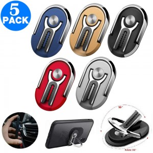 5 Pack 360 Degree Rotation Multipurpose Car Mobile Phone Holders with Phone Ring Holder