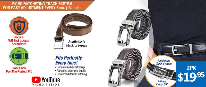 Comfort Gentleman's Click Adjustable Leather Belt