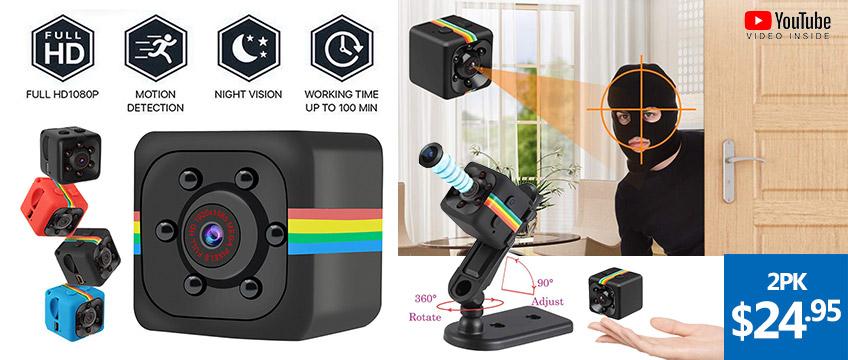 SQ11 1080P Mini Camera Spy Hidden Motion Detection Camcorder