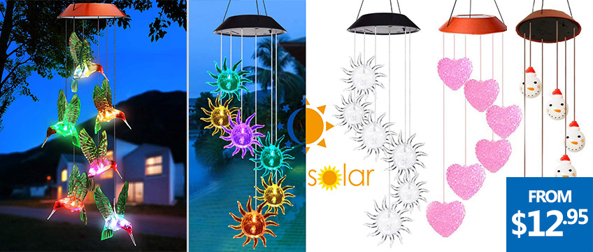 Solar Power Color Changing Wind Chimes