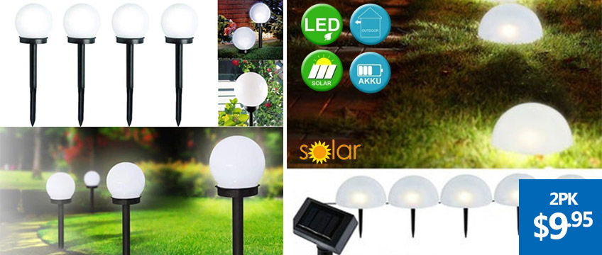 Solar Round Ball Automatic Waterproof LED Ground Lights