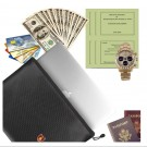 34X25CM Home Office Security Fireproof Document Bags Style 4