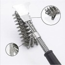 BBQ Grill Cleaning Brush and Scraper Bristle Free Barbecue Cleaner with Triple Head Scrubber for Grill Cooking Grates and Racks Style 1